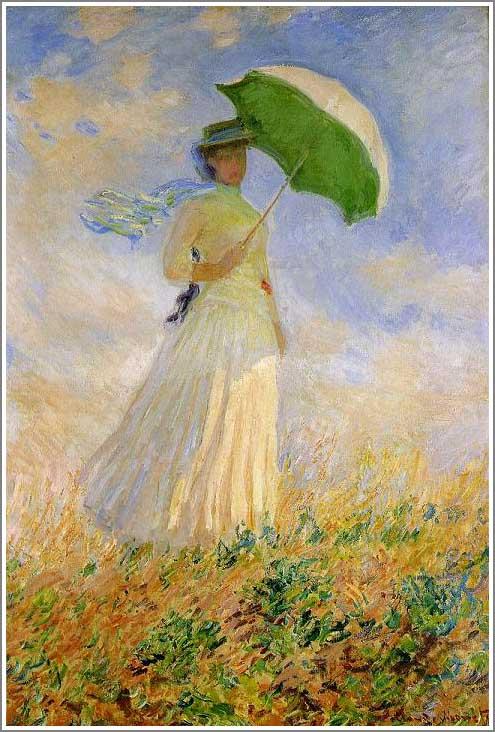 絵画(油絵複製画)制作 クロード・モネ「日傘をさす女(右向き)」