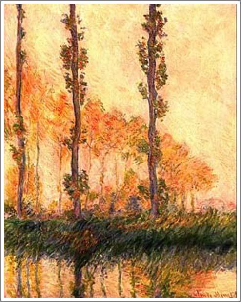 絵画(油絵複製画)制作 クロード・モネ「ポプラ並木」