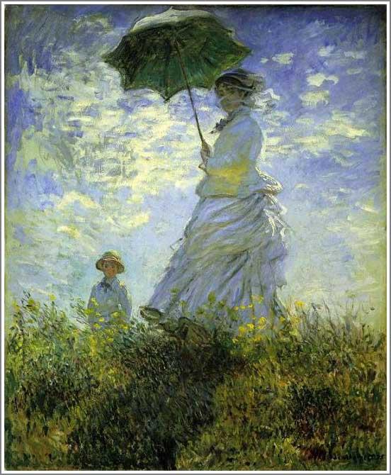 絵画(油絵複製画)制作 クロード・モネ「日傘をさす女(妻カミーユ)」