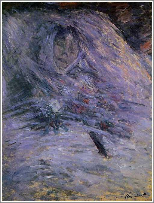 絵画(油絵複製画)制作 クロード・モネ「死の床につくカミーユ・モネ」
