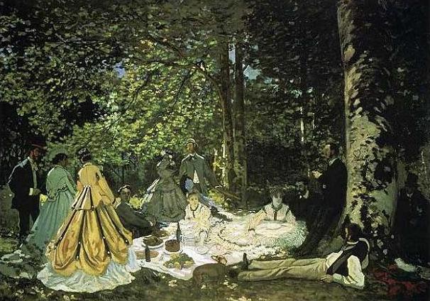 絵画(油絵複製画)制作 クロード・モネ「草上の昼食」