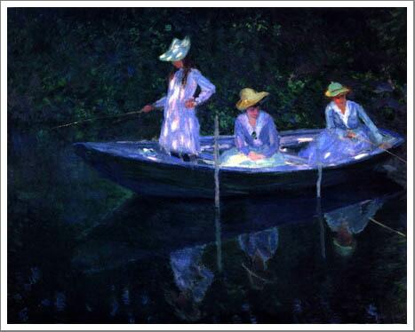 絵画(油絵複製画)制作 クロード・モネ「ノルヴェジエンヌ号で」