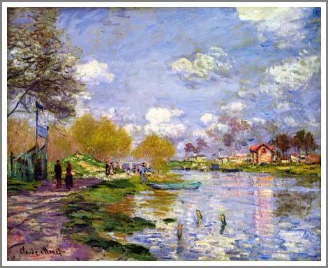 絵画(油絵複製画)制作 クロード・モネ「アルジャントゥイユの川岸」