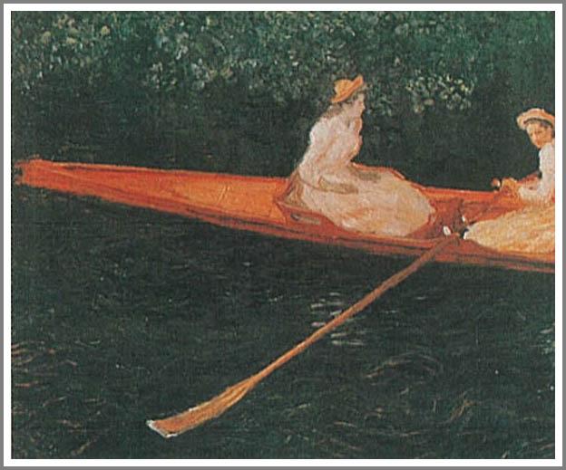 絵画(油絵複製画)制作 クロード・モネ「エブト川の船遊び」
