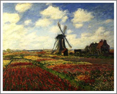 絵画(油絵複製画)制作 クロード・モネ「チューリップ畑・オランダ」