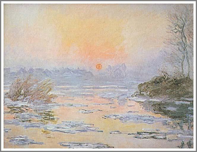 絵画(油絵複製画)制作 クロード・モネ「セーヌの日没」