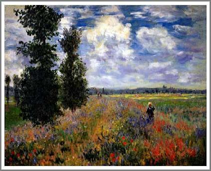 絵画(油絵複製画)制作 クロード・モネ「アルジャントゥイユの野原」