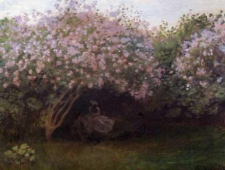 絵画(油絵複製画)制作 クロード・モネ「リラの木の下で」