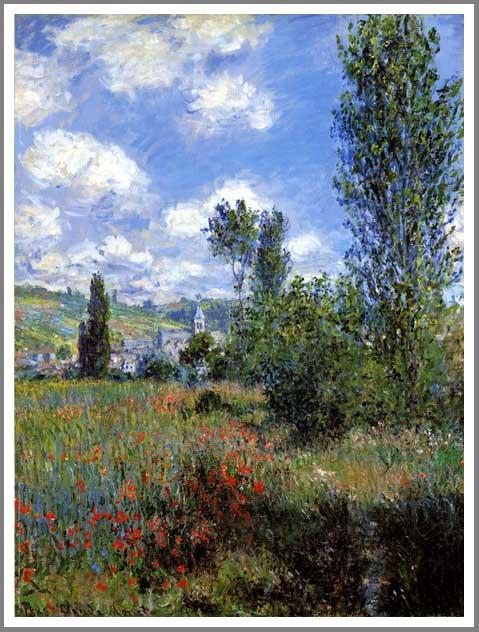 絵画(油絵複製画)制作 クロード・モネ「サンマルタン島の小道」