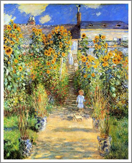 絵画(油絵複製画)制作 クロード・モネ「ヴェトゥイユのモネの庭」