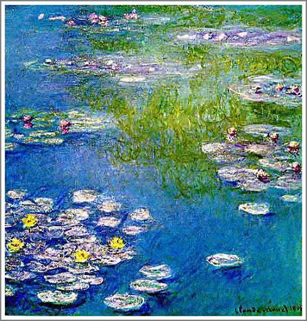 絵画(油絵複製画)制作 クロード・モネ「睡蓮〜青とピンク〜」