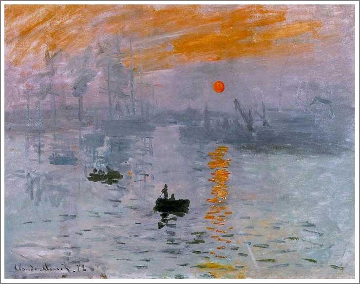 絵画(油絵複製画)制作 クロード・モネ「印象・日の出」