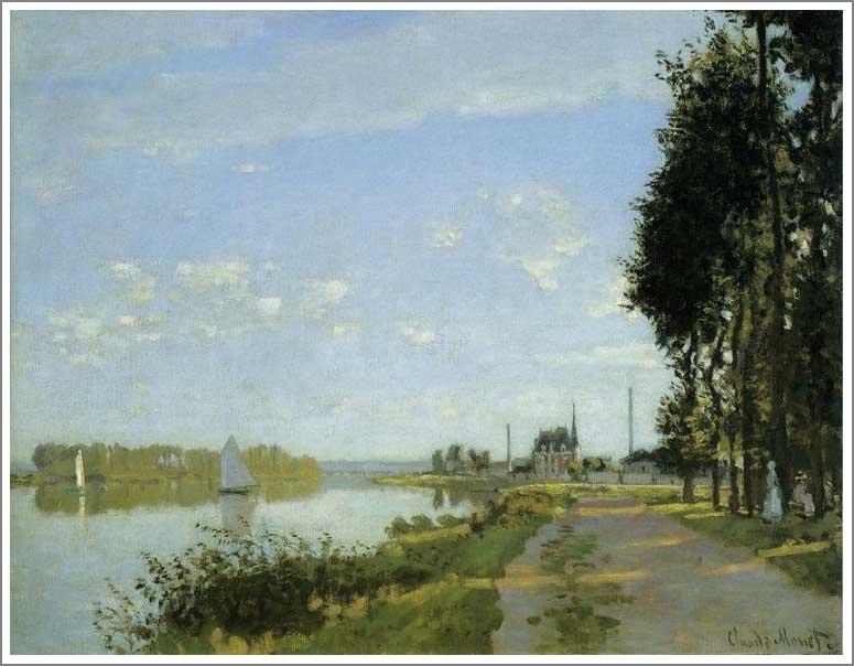 絵画(油絵複製画)制作 クロード・モネ「アルジャントゥイユの散歩道」