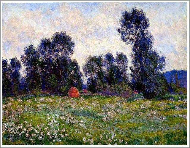 絵画(油絵複製画)制作 クロード・モネ「ジヴェルニーの草原」