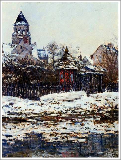 絵画(油絵複製画)制作 クロード・モネ「ヴェトゥイユの教会」