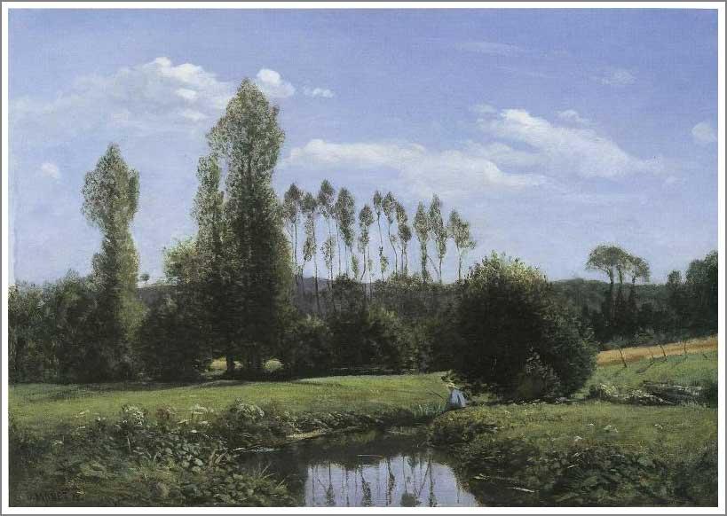 絵画(油絵複製画)制作 クロード・モネ「ルエルの眺め」