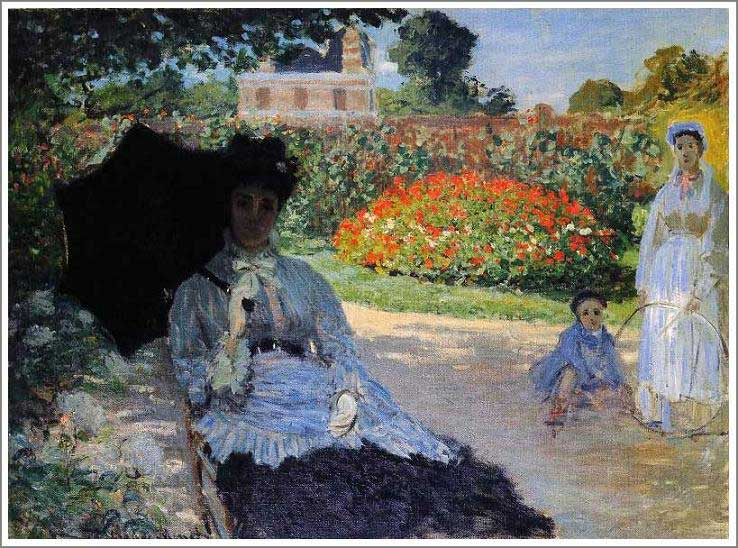 絵画(油絵複製画)制作 クロード・モネ「カミーユ、ジャン、乳母」