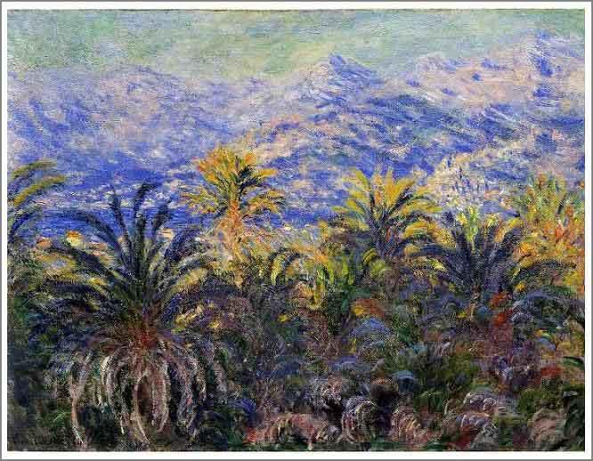 絵画(油絵複製画)制作 クロード・モネ「ボルディゲラのやしの木」