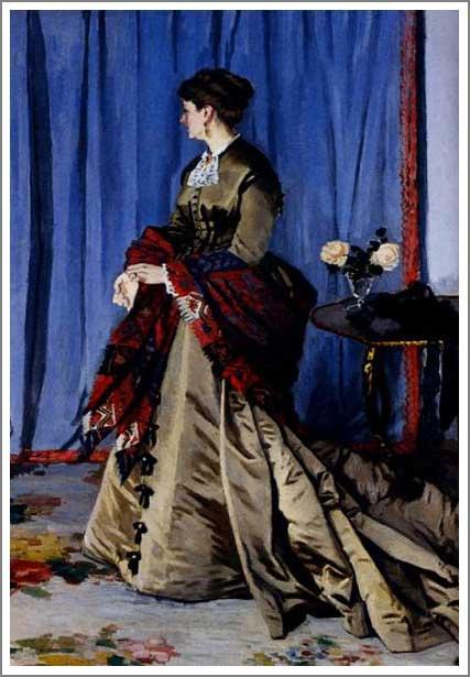 絵画(油絵複製画)制作 クロード・モネ「ゴーディベール夫人」