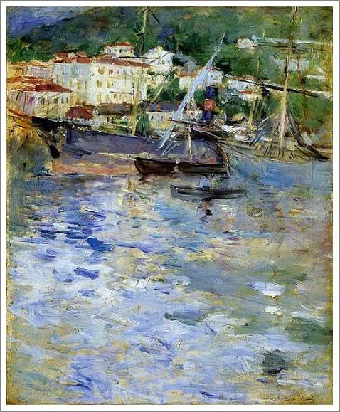 絵画(油絵複製画)制作 ベルト・モリゾ「ニースの港」