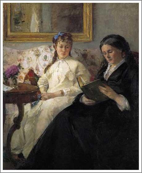 絵画(油絵複製画)制作 ベルト・モリゾ「モリゾ夫人とその娘ポンティヨン夫人」