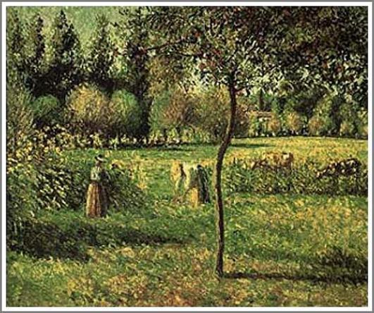 絵画(油絵複製画)制作 カミーユ・ピサロ「エラニーの草原」