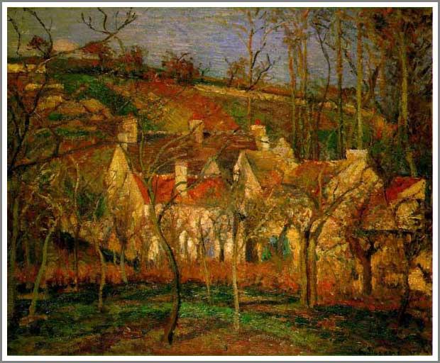 絵画(油絵複製画)制作 カミーユ・ピサロ「赤い屋根」