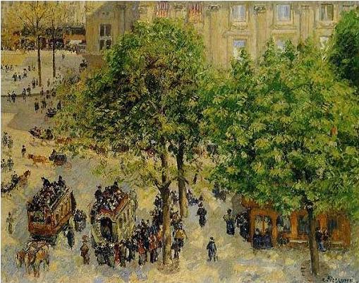 絵画(油絵複製画)制作 カミーユ・ピサロ「テアトル・フランセ広場」