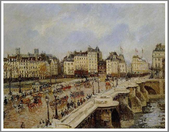 絵画(油絵複製画)制作 カミーユ・ピサロ「パリのポン・ヌフ」