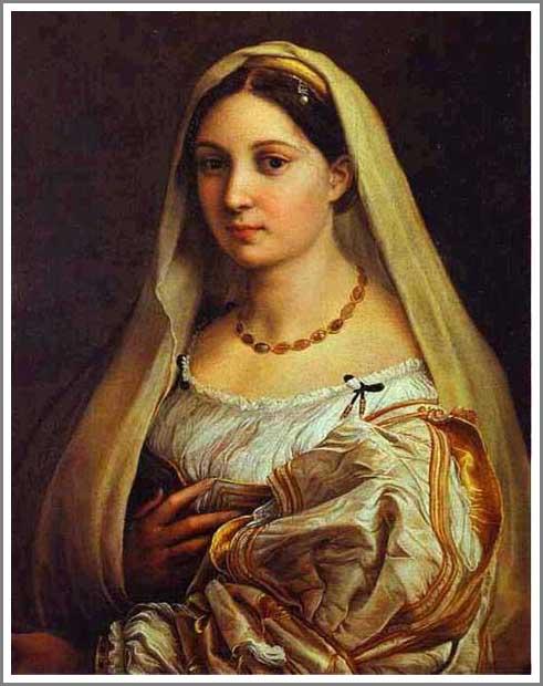 絵画(油絵複製画)制作 ラファエロ・サンティ「ヴェールを被る婦人の肖像」