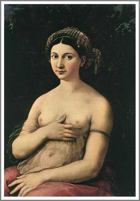 絵画(油絵複製画)制作 ラファエロ・サンティ「若い婦人の肖像〜ラ・フォルナリーナ〜」