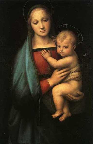 絵画(油絵複製画)制作 ラファエロ・サンティ「大公の聖母〜Madonna&Child〜」