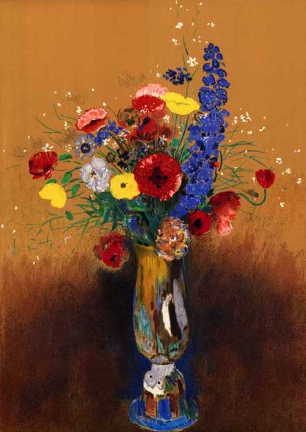 絵画(油絵複製画)制作 オディロン・ルドン「野の花」