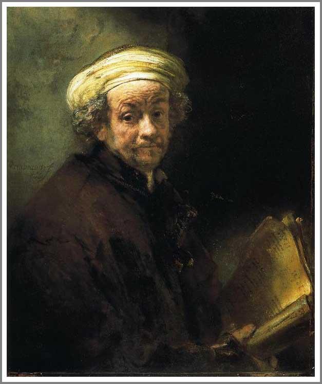 絵画(油絵複製画)制作 レンブラント「聖パウロに扮した自画像」