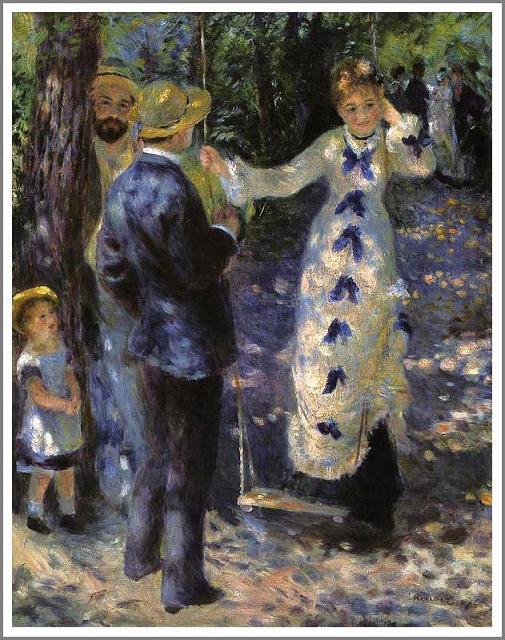 絵画(油絵複製画)制作 オーギュスト・ルノアール「ぶらんこ」