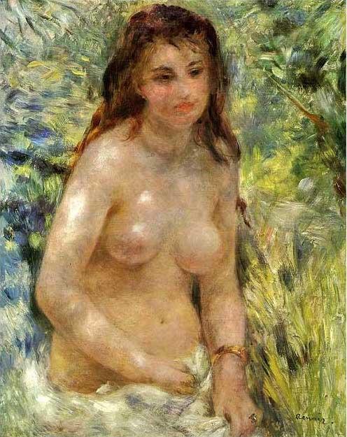 絵画(油絵複製画)制作 オーギュスト・ルノアール「エチュード若い女のトルソ、陽の効果」