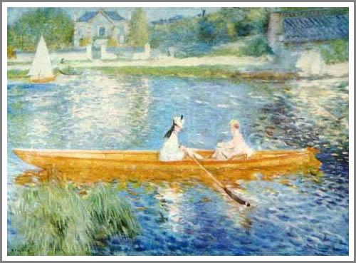 絵画(油絵複製画)制作 ルノアール(ルノワール)「アニエールのセーヌ河」