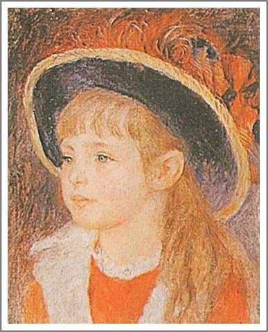 絵画(油絵複製画)制作 ルノアール(ルノワール)「青い帽子の少女」