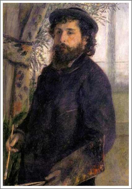 絵画(油絵複製画)制作 ルノアール(ルノワール)「絵筆を持つクロード・モネ」