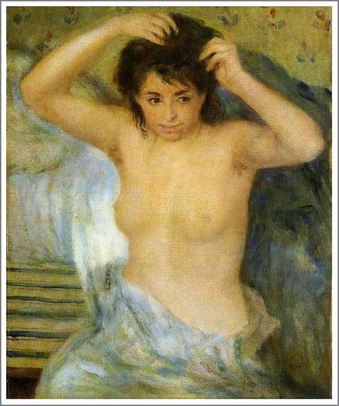 絵画(油絵複製画)制作 ルノアール(ルノワール)「女の半身像」
