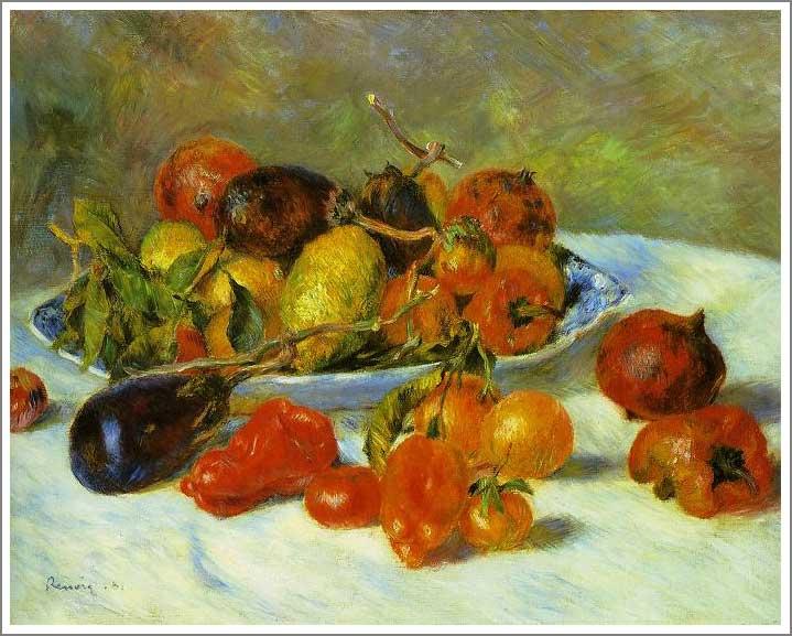 絵画(油絵複製画)制作 ルノアール(ルノワール)「南仏の果物」