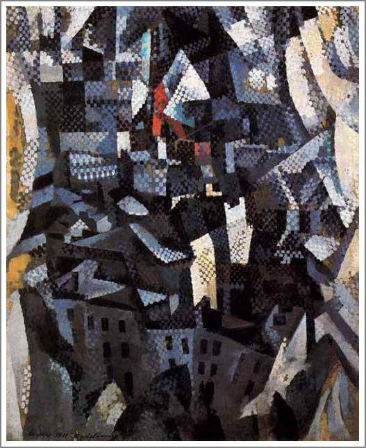 絵画(油絵複製画)制作 ロベール・ドローネ「都市」