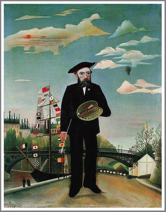 絵画(油絵複製画)制作 アンリ・ルソー「私自身、肖像=風景」