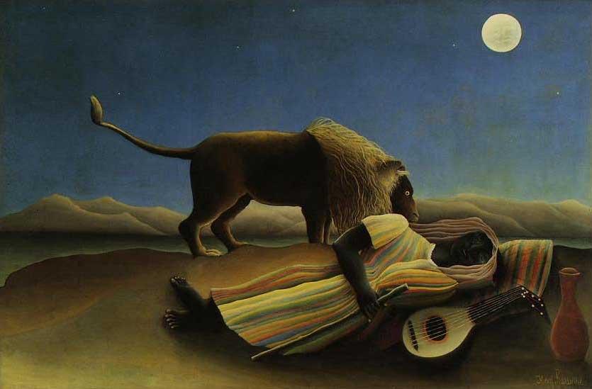 絵画(油絵複製画)制作 アンリ・ルソー「眠れるジプシー女」