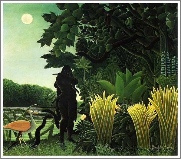 絵画(油絵複製画)制作 アンリ・ルソー「蛇使いの女」