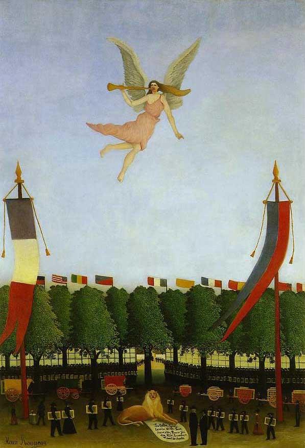 絵画(油絵複製画)制作 アンリ・ルソー「第22回アンデパンダン展に参加するよう芸術家達を導く自由の女神」