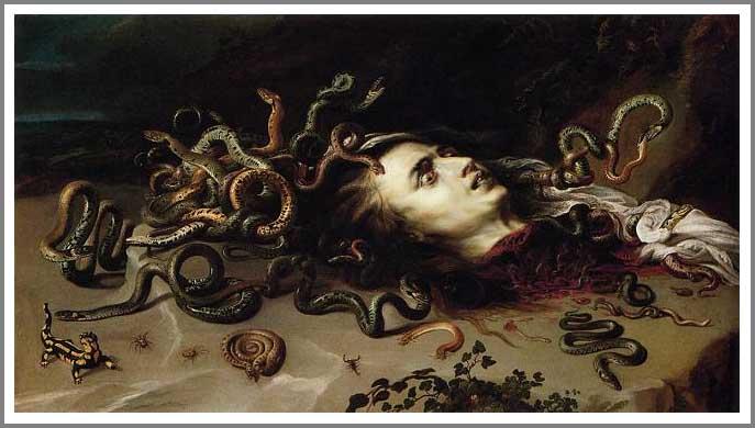 絵画(油絵複製画)制作 ピーテル・パウル・ルーベンス「メデューサの頭部」
