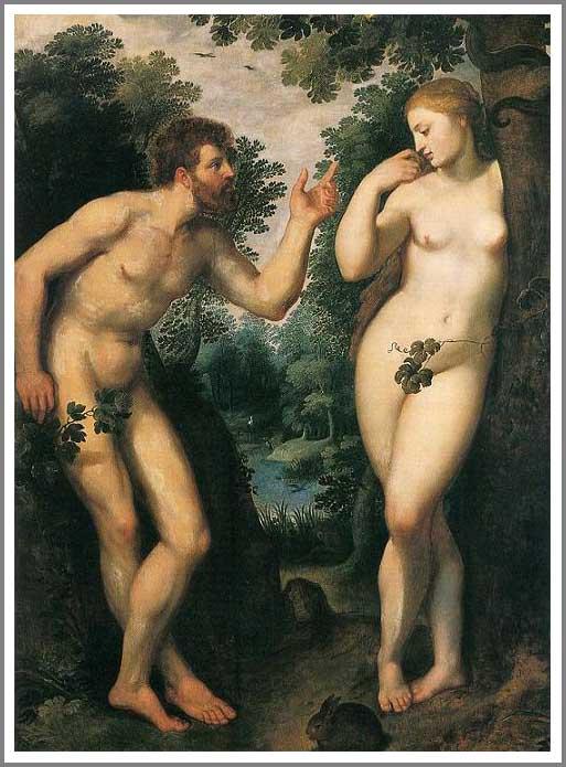 絵画(油絵複製画)制作 ピーテル・パウル・ルーベンス「楽園のアダムとエヴァ」