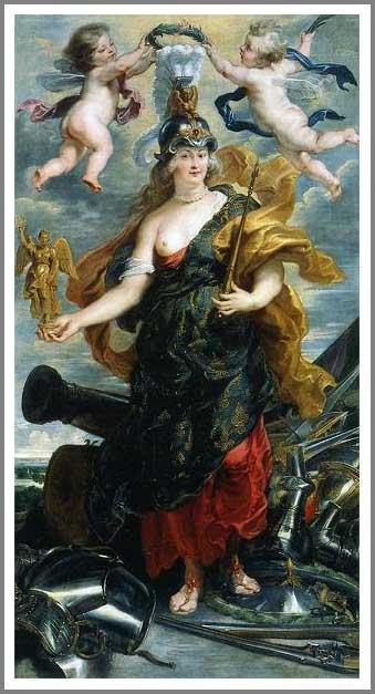 絵画(油絵複製画)制作 ピーテル・パウル・ルーベンス「ミネルヴァに扮したマリー・ド・メディシス」