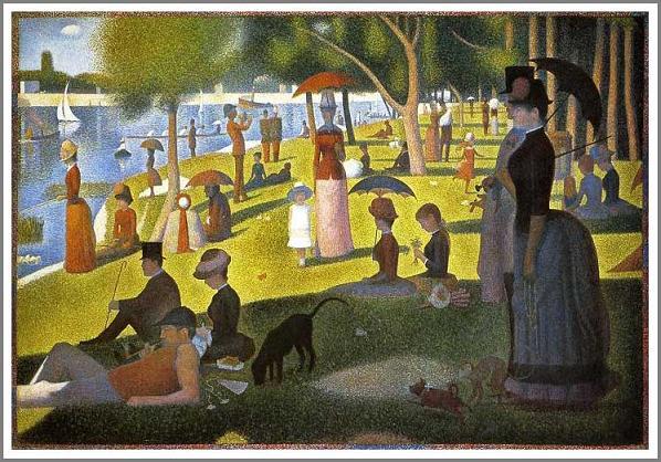 絵画(油絵複製画)制作 ジョルジュ・スーラ「グランド・ジャット島の日曜日の午後」